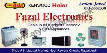 FAZAL Electronics – Liaquat Market, Rawalpindi – Pakistan's Largest