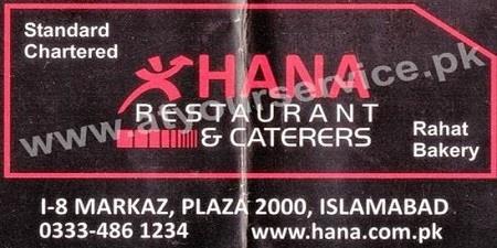 Khana Restaurant & Caterers – I-8 Markaz, IBD
