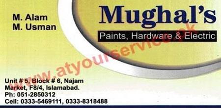 Mughal's Paints Hardware & Electric – Najam Market F 8-4, IBD