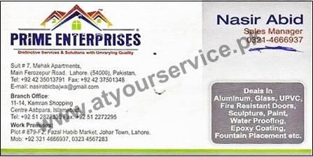 Prime Enterprises - Kamran Shopping Centre Aabpara, Islamabad