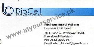 Bio Cell Laboratories - Peshawar Road, Rawalpindi