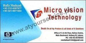 Micro Vision Technology - Hafeez Center Gulberg III, Lahore