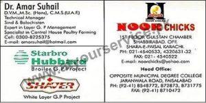 Noor Chicks (Vet Dr. Amar Suhail) - Gulstan Chamber Shabbir Abad, Karachi