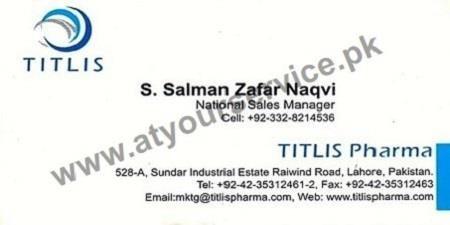 TITLIS Pharma - Sundar Industrial Estate Raiwind Road