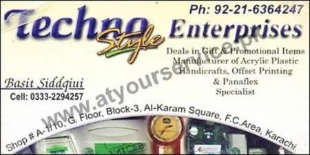 Techna Style Enterprises Gifts Acrylic Plastic Handicraft Offset