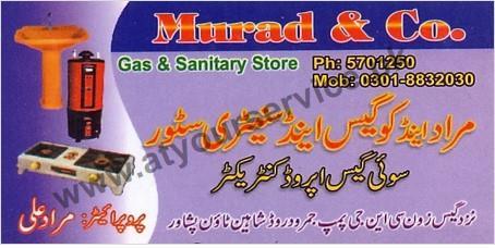 Murad & Co. Gas & Sanitary Store – Jamrud Road, Shaheen Town, Peshawar