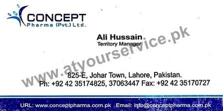 Concept Pharma - Johar Town, Lahore - Pakistan's Largest