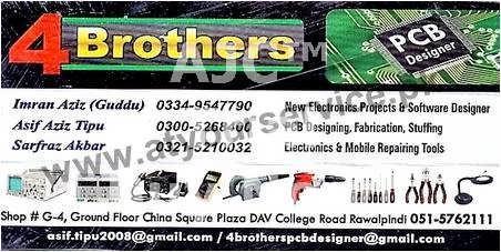 4 Brothers PCB Designer – China Square Plaza, DAV College Road, Rawalpindi