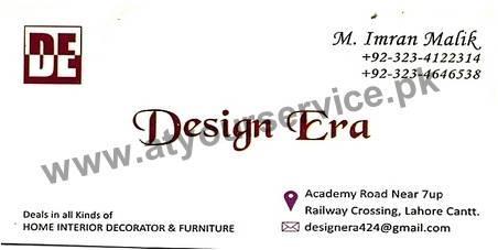 Design Era – Academy Road, Railway Crossing, Cantt, Lahore