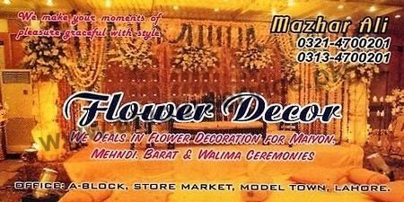 Flower Decor - Store Market, Model Town, Lahore - Pakistan's