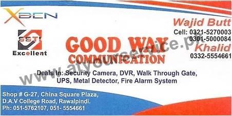 Good Way Communication – China Square Plaza, DAV College Road, Rawalpindi