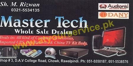 Master Tech DAV College Road Rawalpindi
