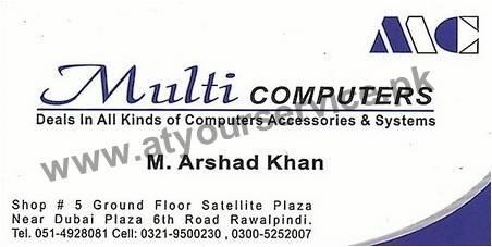 Multi Computers Satellite Plaza 6th Road Rawalpindi