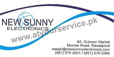 New Sunny Electronics – Gulnoor Market, Murree Road, Rawalpindi