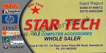 Star Tech Umair Plaza 6th Road Rawalpindi