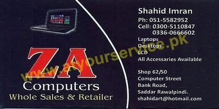 Z A Computers Computer Street Bank Road Saddar Rawalpindi