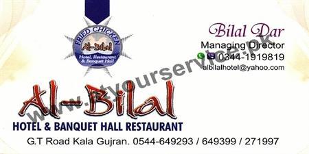 Al Bilal Hotel & Banquet Hall Restaurant – GT Road, Kala Gujran, Jhelum