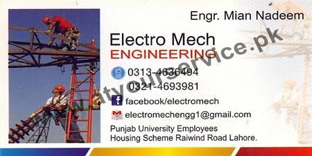 Electro Mech Engineering – PU Employees Housing Scheme, Raiwinf Road, Lahore