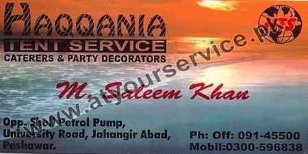 Haqqania Tent Service, Caterers & Party Decorators – University Road, Jahangir Abad, Peshawar