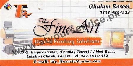 The Fine Art (Digital Printing Solutions) – Empire Centre, Lakshmi