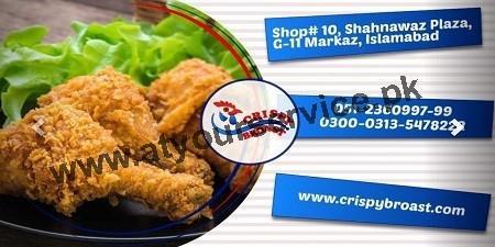 Crispy Broast – Shahnawaz Plaza, G11 Markaz, Islamabad