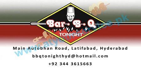 BBQ Tonight – Autobahn Road, Latifabad, Hyderabad