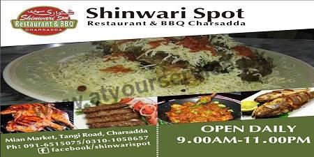Shinwari Spot, Restaurant & BBQ – Mian Market, Tangi Road, Charsadda