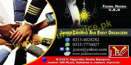 Jauhar Catering And Event Organizers – Jauhar Hill Road, Gulistan e Jauhar Karachi