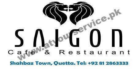 Saigon Restaurant Quetta Menu