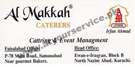 Al Makkah Caterers – Block B North Nazimabad, Karachi