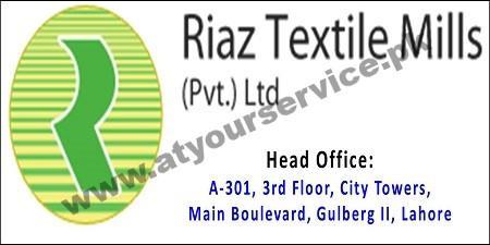 Riaz Textile Mills (Head Office) – City Towers, Main Boulevard