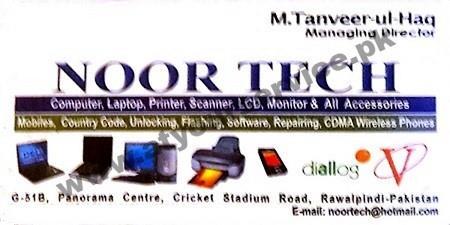 Noor Tech Panorama Centre Stadium Road Rawalpindi
