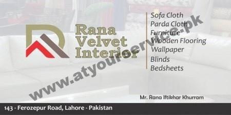 Rana Velvet Interior – Ferozepur Road, Lahore