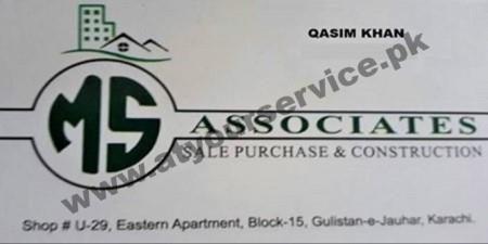 MS Associates - Eastern Apartments, Block 15, Gulistan e