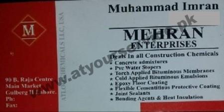 Mehran Enterprises (Construction Chemicals) – Raja Centre, Main